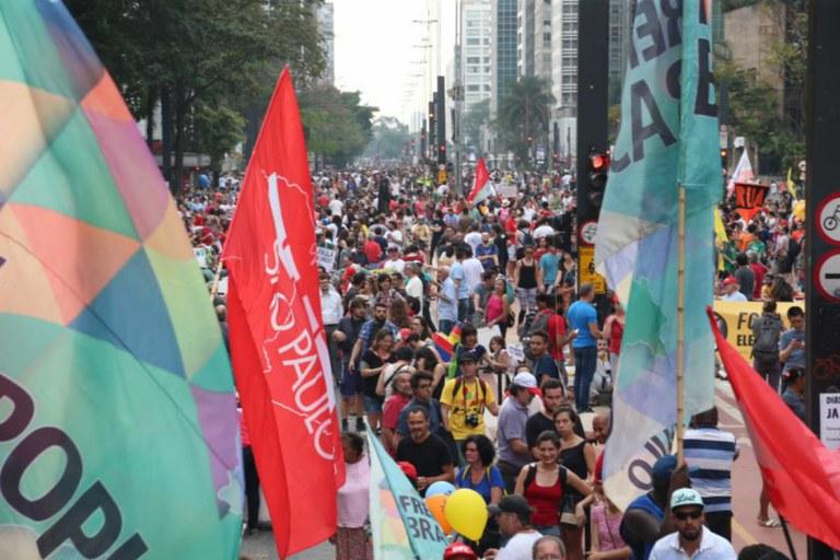 As frentes Brasil Popular e a Povo sem Medo promoveram a resistência mais consequente ao golpe