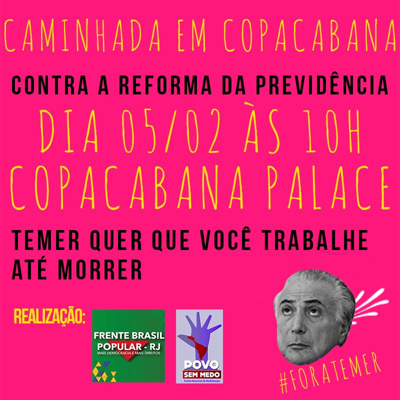 Caminhada em Copacabana